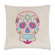 Sucre coloré crâne housse de coussin - oreiller Candy Skull