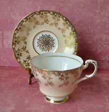 PARAGON Tea Cup Teacup & Saucer set, Beige Gold Chintz pat.A127/5