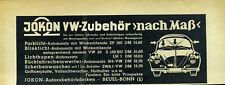 VW -- Jokon -- VW Zubehör nach Maß -- Werbung von 1961 --