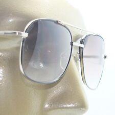Reading Glasses Men's Sunglasses Tinted Aviator True Bifocal Silver Frame +1.75