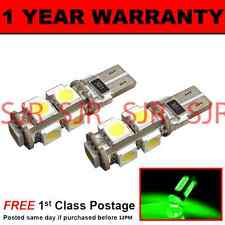 W5W T10 501 CANBUS ERROR FREE GREEN 9 LED SIDELIGHT SIDE LIGHT BULBS X2 SL101704