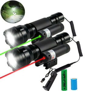 Tactical White led Light Green Red Laser Scope Sight Combo for Rifle 20mm Weaver