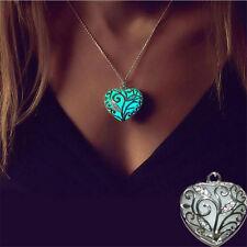 Magical Fairy Glow in the Dark Pendant Locket Heart Luminous Fashion Necklaces