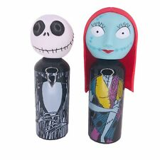 Nightmare Before Christmas Jack & Sally Water Bottle Figure Set Aluminum Travel