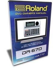 Roland (Boss) DR-670 DVD Video Training Tutorial Help