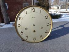 Mauthe Silver Westminster Dial Shelf Mantle Tambour Clock Dial Gold Numerals