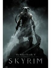 "THE ELDER SCROLLS V: SKYRIM POSTER dragonborn ""LICENSED"" BRAND NEW"