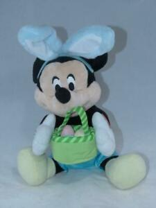 Disney Mickey Mouse Easter Bunny Musical ~ Not Animated Plush Plushy Top
