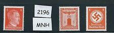 Nazi Germany / Adolph Hitler / Nazi Swastika / Mint stamp set #2196 / PF08 / MNH