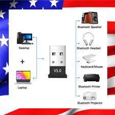 Clef USB Bluetooth V5.0 mini adaptateur Dongle Sans Fil pour PC Windows et Mac