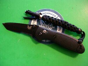 """NTSA BENCHMADE USA """"MINI GRIPTILIAN"""" 3 7/8"""" CLOSED AXIS LOCK POCKET KNIFE #557"""