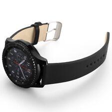 22mm Leder Armband für Samsung Gear S3 Frontier Classic schwarz Herren Frauen