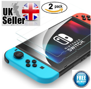 2 Pack Nintendo Switch Console Real Tempered Glass Full Screen Protector Cover!!