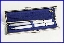 1970er USUS BERLIN Damen Set Kugelschreiber & 1.2 mm Bleistift + Leder Etui