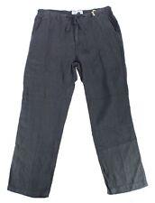 Margaritaville Mens Pants Black Size XL Linen Straight Leg Drawstring $65 507