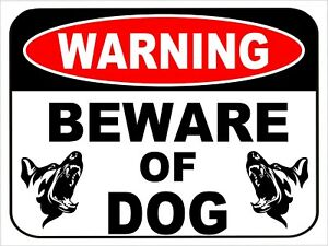 "WARNING Beware Of Dog Security Metal Sign Attack Animal Pet Fence Yard 9""x12"""