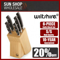 100% Genuine! WILTSHIRE Trinity 6 Piece Knife Block Set! RRP $109.95!