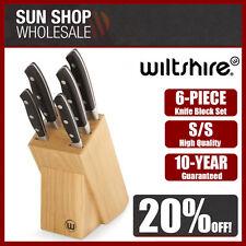 100 Genuine Wiltshire Trinity 6 Piece Knife Block Set