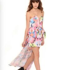 NEW FINDERS KEEPERS NIGHTLIGHT MINI MAXI FLORAL PRINT DRESS - S rrp $249