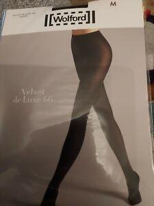 Wolford Velvet De Luxe 66 Tights, medium, black, opaque