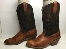 VTG MENS ACME DINGO COWBOY BROWN BOOTS SIZE 9 D