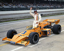 JOHNNY RUTHERFORD 1974 INDY 500 WINNER AUTO RACING 8X10 PHOTO