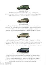 "1999 OLDSMOBILE SILHOUETTE Mini-Van Brochure / Catalog with Color Chart"" MiniVan"