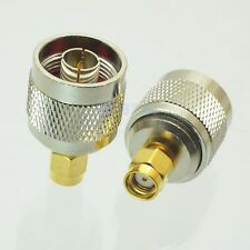 1pce Adapter N plug male to RP.SMA jack male RF connector straight