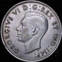 1940 VF++ Canada Silver 50 Cents (Fifty, Half) - KM# 36 - JG