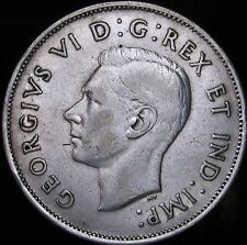 1940 VF++ Canada Silver 50 Cents (Fifty, Half) - KM# 36 - Free Shipping - JG