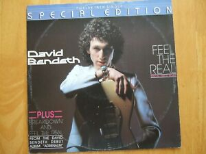 "DAVID BENDETH FEEL THE REAL 12"" VINYL SINGLE 1979 SIDEWALK SPECIAL DISCO REMIX"