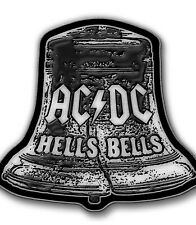 AC/DC Hells Bells shaped Metal Pin Badge (rz)