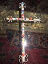 Beaded Metal Cross