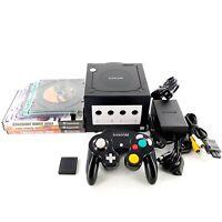 Nintendo GameCube Black Console Bundle Lot w/ 8 Games, Controller Tested