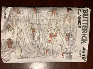 Vintage BUTTERICK Misses Wedding Veil 6 Styles Pattern 4649  One Size