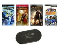 PSP ULTIMATE 4 Game Bundle with UMD Case Holder - Limited Offer! NEW!