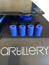 Artillery Sidewinder X1 / Genius  4x Silikonpuffer (Silikondämpfer) (Blau)