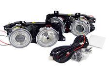 GLASS Lens DEPO 88-95 BMW E32 E34 Angel Eye Halo Ring Projector Clear Headlight