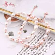 """Natural Freshwater Pearl Jewelry Bracelet For Women NewYear Valentine's Gift  7"""""""