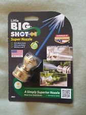 NEW Little Big Shot Super Hose Nozzle Solid Brass USA Garden Variable Spray
