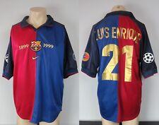 Barcelona 1999 Centenary Champions League home shirt Luis Enrique 21 size L