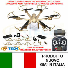 DRONE ESACOTTERO RADICOMANDATO HEADLESS WIFI FPV 3D CAMERA HD VIDEO FOT USB LED