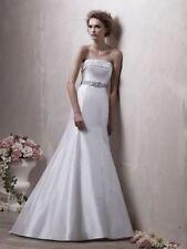 A-line Strapless 100% Silk Wedding Dresses