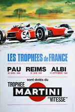 VINTAGE 1969 LES TROPHEES DE FRANCE GRAND PRIX AUTO RACING POSTER PRINT 24x16