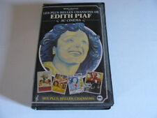 LES PLUS BELLES CHANSONS DE EDITH PIAF AU CINEMA  K7VIDEO RENE CHATEAU RARE