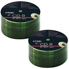 TDK 50 PACK CDR BLANK DISCS CD-R RECORDABLE CD 80 MINS 700MB 52X