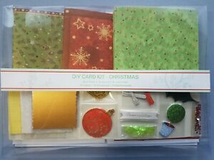 Christmas Craft Card Making Kit - 15 cards with envelopes Bauble Holly Leaf Red