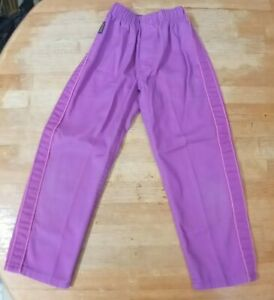 VINTAGE 1980'S PURPLE OSHKOSH PINK SIDE PIPED PANTS SIZE 5 MADE IN U.S.A.