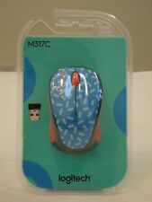 * NEW Logitech Wireless Mouse M317c Nano Receiver - Memphis Blue 910-004749