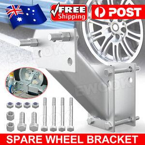 Spare Wheel Carrier Bracket Tyre Holder For Trailer Caravan Boat Universal